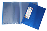 Harlequin A4 10 Page Display Book with Insert Covers BLUE