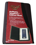 Waterville Refillable Telephone  Address Book BURGUNDY