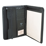 Waterville Bonded Leather Zippered Note Holder BLACK