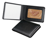 Waterville Faux Nappa Calfskin A7 Memo Pad Holder BLACK